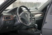 Interior Of BMW E90 Sedan With...