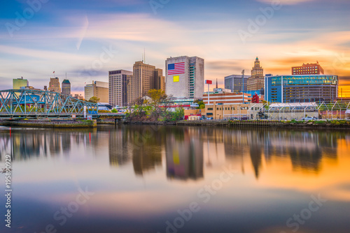 Canvas Prints Cappuccino Newark, New Jersey, USA Skyline