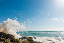Bursts Of The Waves Of The Sea...