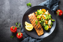 Grilled Salmon Fillet With Veg...