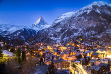 Sunrise Over The Matterhorn In Zermatt, Switzerland