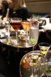 alcohol cocktails in glass in bar during the party