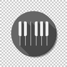 Piano Keyboard Icon. Horizonta...
