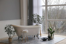 Romantic Vintage Old Bath In T...