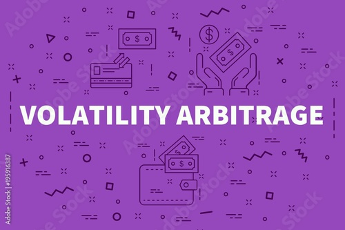 Photo Conceptual business illustration with the words volatility arbitrage