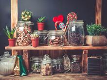 Various Tea, Dried Herbs And B...