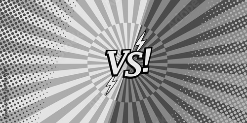 Comic versus monchrome horizontal background Canvas Print