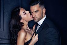 Sensual Young Woman Licking He...