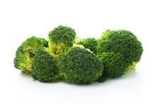 Raw Broccoli Vegetable Isolated On White Background