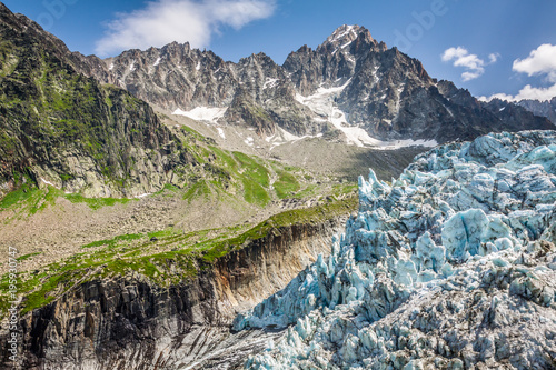 View on Argentiere glacier Canvas Print