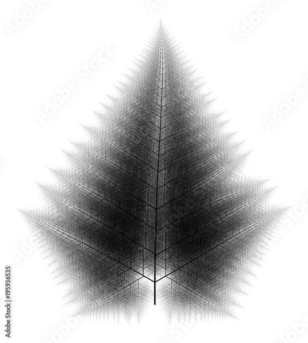Obraz na plátně Flat   Computer Generated Self-Similar L-system Branching Tree Fractal  - Genera
