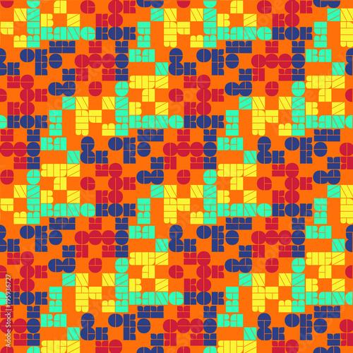 Bangkok seamless pattern Poster