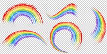 Different Brushstrokes Of Rainbow