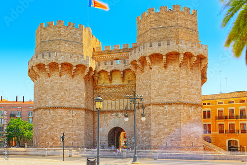 Photo Serrans Gate or Serrans Towers is one of the twelve gates ,of th