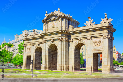 Poster Madrid Gate of Alcala (Puerta de Alcala) Neo-classical monument in the