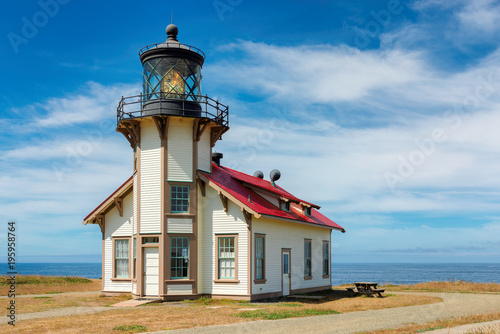 Foto auf AluDibond Leuchtturm Point Cabrillo Lighthouse, Mendocino County, California.