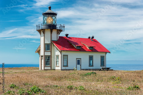 Foto auf AluDibond Leuchtturm Beautiful California Lighthouse, Point Cabrillo, Mendocino County, California.