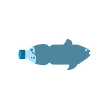 Fish Bootle Logo Icon Design