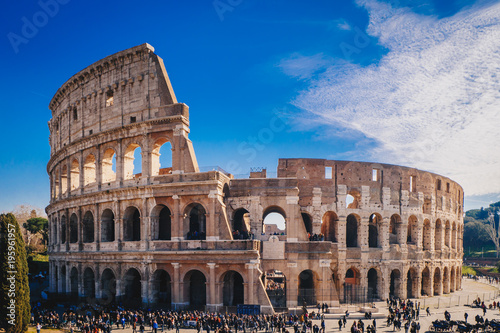 Stampa su Tela The Roman Colosseum in Rome