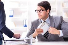 Businessmanbeing Offered Bribe...