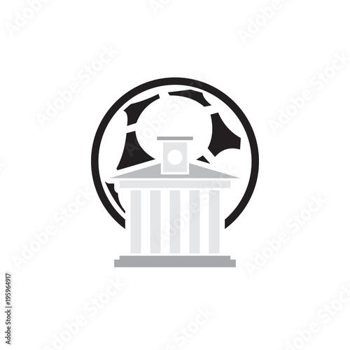 Fotografie, Tablou  Law Soccer Logo Icon Design