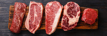 Variety Of Raw Black Angus Pri...