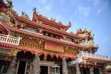 "Taiwan ,Tainan Sicao  - March 9: Sicao Dazhong Temple ,the Chinese Word On The Temple Is ""Dazhong Temple"" In Tainan,Taiwan"