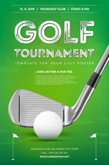 Fototapeta Golf tournament poster template