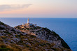Lighthouse at Cape Formentor in the Coast of North Mallorca, Spain ( Balearic Islands ).