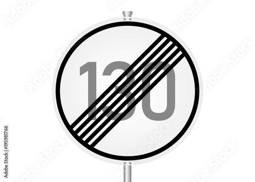 Fotomural Geschwindigkeitsbegrenzung endet - 130