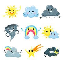 Set Of Weather Forecast Icons ...