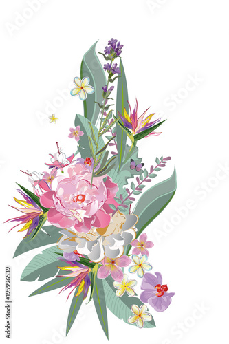 Series of greeting backgrounds with summer and spring flowers Fototapeta