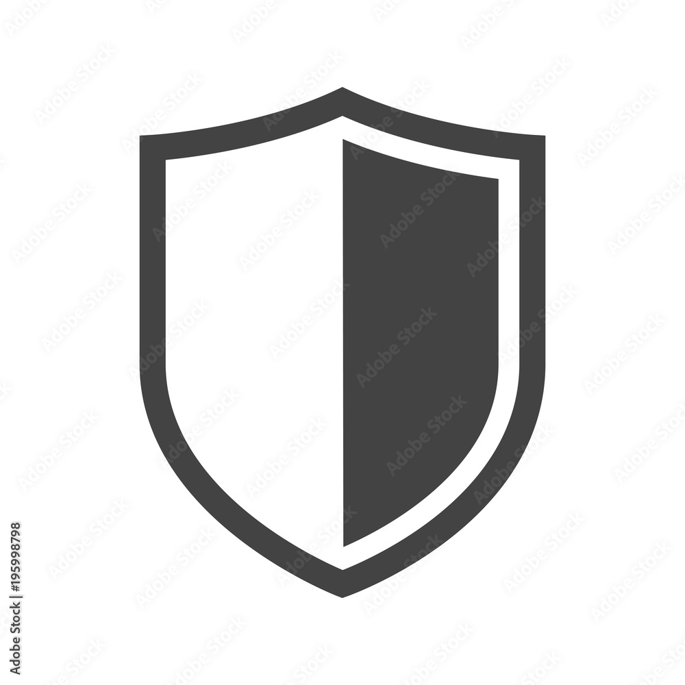 Fototapeta Vector shield icon. Security vector icon collection. Protection logo, shield. Сryptocurrency protection sign. Reliability crypto wallet. Crypto currency security web button. Interface design element.