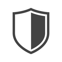Vector Shield Icon. Security Vector Icon Collection. Protection Logo, Shield. Сryptocurrency Protection Sign. Reliability Crypto Wallet. Crypto Currency Security Web Button. Interface Design Element.