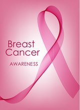 Vector Smoke. Vector Pink Smoke. Banner For Your Design. The Fight Against Cancer. Pink Ribbon.