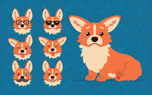 Cute Welsh Corgi Constructor. ...