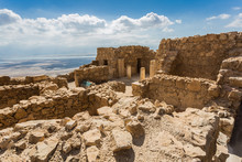 Ancient Fortress Of Masada In Israel