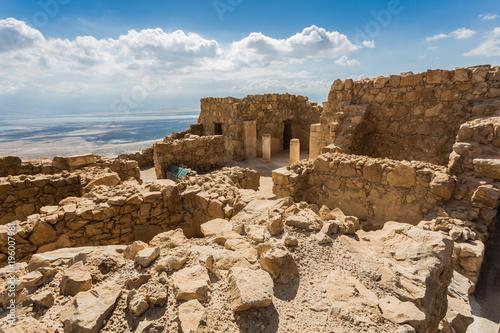 Zdjęcie XXL starożytna forteca Masada w Izraelu