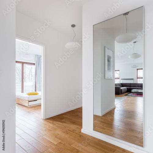 Obraz Hall with big mirror - fototapety do salonu