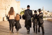 Jewish Family In Jerusalem, Israel