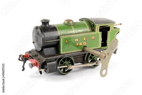 Toy Electric Model Train on White Background - Buy this
