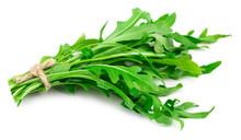 Green Fresh Rucola Leaves Isol...