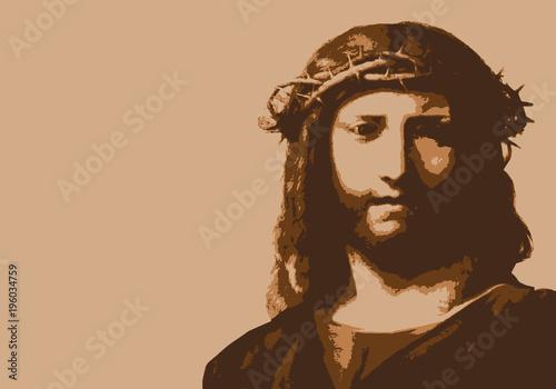 Jésus - christ - Jésus-Christ - dieu - portrait - personnage célèbre - christian Wallpaper Mural