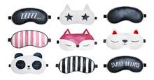 Sleep Masks Set. Classic Black...