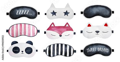 Fotografie, Obraz  Sleep masks set
