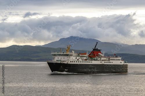 Oban, Scotland / United Kingdom - Jul 09 2017: Ferry from Isle of Mull Fototapet