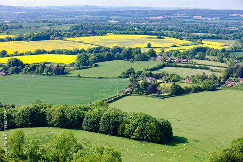 Summer rural landscape Southern England UK