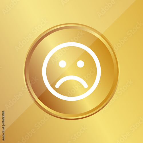 Gold Medaille Trauriges Gesicht Buy This Stock Vector And