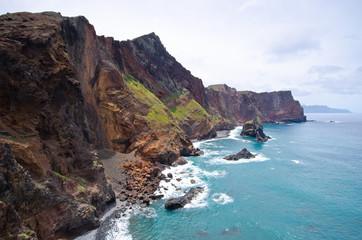 Cliffs of Ponta de Sao Lourenco peninsula - Madeira island