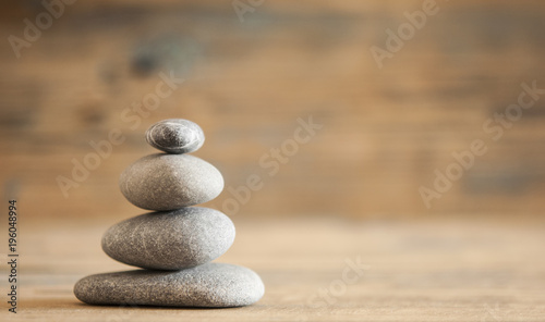 Photo A stack of four zen rocks